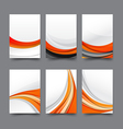 Abstract background collection of curve wave vector image vector image