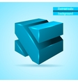 abstract blue cube vector image vector image