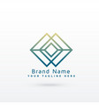 abstract diamond line logo concept design vector image