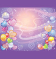 background with balloons violet vector image
