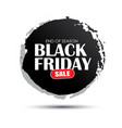 black friday sale circle banner with white text vector image
