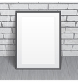 Blank paper poster with frame vector image