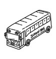 bus school icon doodle hand drawn or outline icon vector image vector image