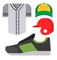 cartoon baseball uniform player batting vector image vector image