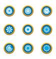 chart icons set flat style vector image