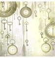 Christmas luxury background with pocket watches vector image