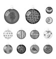 christmas toys monochrome icons in set collection vector image