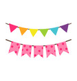 colorful birthday flag decoration for party vector image