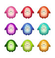 colorful funny monsters set vector image vector image