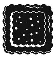 cracked biscuit icon simple style vector image