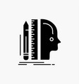 design human ruler size thinking glyph icon vector image