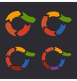 Embossed Circle Arrows Set