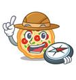 explorer margherita pizza isolated with the vector image vector image