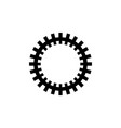gear mechanism rackwheel flat icon vector image vector image