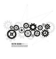 gear wheel and cogwheel mechanism vector image