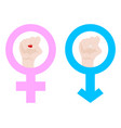 gender equality male and female man and woman vector image vector image
