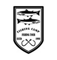great catch fishing club emblem template vector image vector image