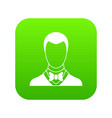 groom icon digital green vector image