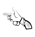 hand as gun vector image vector image