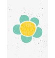 hand drawn spring is here flower design vector image vector image