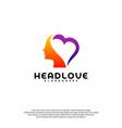 head love logo head intelligence logo designs vector image vector image