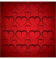 heart pattern in red background vector image vector image