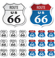 historic route 66 stickers vector image vector image