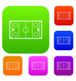 ice hockey rink set collection vector image vector image
