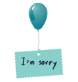 Im sorry card vector image vector image