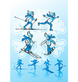 Image of winter sports Alpine skiing cross-country vector image