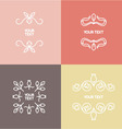 Linear set of ornaments for text or logo vector image vector image
