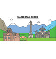 macedonia skopje mountain city skyline vector image