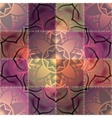 Mandala pattern on patchwork background vector image vector image