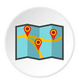 map with pointer icon circle vector image vector image