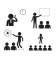 Marketing man Icons vector image
