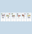 mobile app onboarding screens breakfast meal vector image
