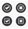 modern vote icons set vector image