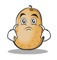 moody potato character cartoon style vector image vector image