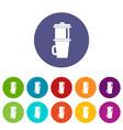 mug for coffee set icons vector image vector image