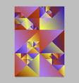 multicolored polygonal geometrical triangle page vector image vector image