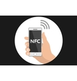 NFC smart phone concept flat icon vector image