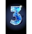 number blue shine design vector image vector image