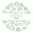 outline microbes viruses bacteria vector image