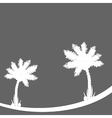 Palm tree on gray background vector image vector image