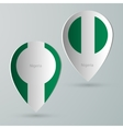 paper of map marker for maps nigeria vector image