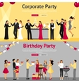 Party Flat Banners Set vector image vector image