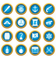 pirate icons blue circle set vector image vector image