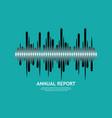 pulse music player audio monochrome wave logo vector image vector image