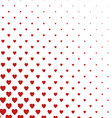 Red and white heart pattern background vector image