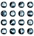round black high-gloss office buttons vector image vector image